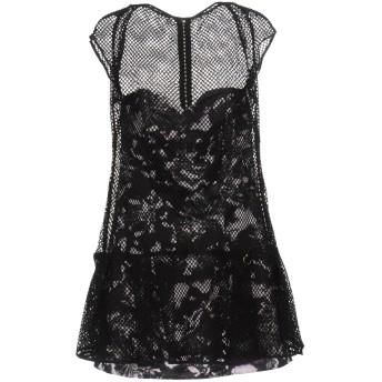 《セール開催中》MANGANO レディース ミニワンピース&ドレス ブラック 42 ポリエステル 100%