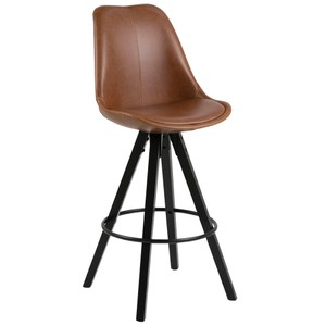 波里吧檯椅 PU材質 棕色 Dima barstool/cushion bla