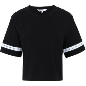 《期間限定セール開催中!》CALVIN KLEIN JEANS レディース T シャツ ブラック XS コットン 100% MONOGRAM TAPE STRAIGHT