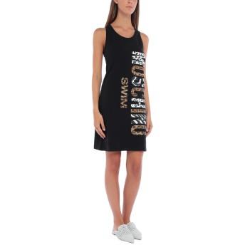 《セール開催中》MOSCHINO レディース ビーチドレス ブラック XS コットン 92% / ポリウレタン 8%