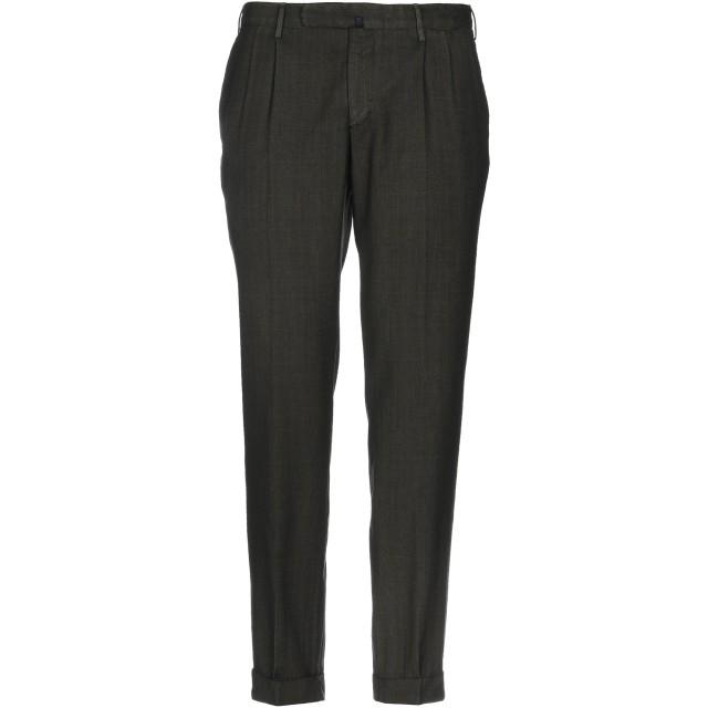 《セール開催中》INCOTEX メンズ パンツ ミリタリーグリーン 50 バージンウール 100%