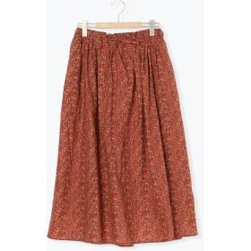 【6,000円(税込)以上のお買物で全国送料無料。】小花柄ギャザースカート