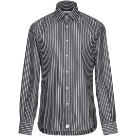 《期間限定セール開催中!》DEL SIENA メンズ シャツ スチールグレー 39 コットン 100%