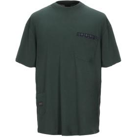 《期間限定 セール開催中》ARMANI EXCHANGE メンズ T シャツ ダークグリーン XS コットン 100%