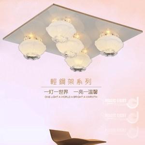 【光的魔法師 Magic Light】蘭花 美術型輕鋼架燈具(五燈)