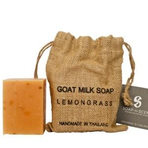 ThaiScent泰香 麻布袋檸檬草山羊奶手工皂270g