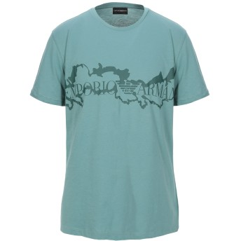 《期間限定セール開催中!》EMPORIO ARMANI メンズ T シャツ ディープジェード XXS コットン 100%
