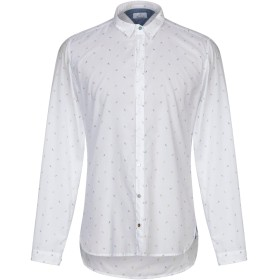 《セール開催中》BERNA メンズ シャツ ホワイト S コットン 100%