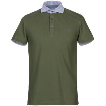 《セール開催中》HENRY COTTON'S メンズ ポロシャツ ミリタリーグリーン S コットン 100%
