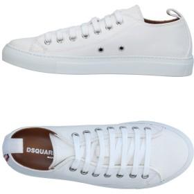 《期間限定 セール開催中》DSQUARED2 メンズ スニーカー&テニスシューズ(ローカット) ホワイト 45 紡績繊維
