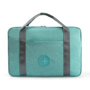 PUSH!旅遊用品拉杆箱上手提行李包便攜行李收納包蒂芬妮藍S53-2蒂芬妮藍