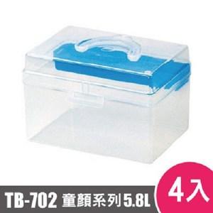 樹德SHUTER童顏系列手提箱702型TB-702 4入藍