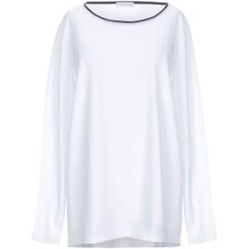 《期間限定セール開催中!》LES COPAINS レディース T シャツ ホワイト XL コットン 90% / ポリウレタン 10% / バージンウール