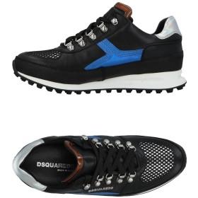 《期間限定セール開催中!》DSQUARED2 メンズ スニーカー&テニスシューズ(ローカット) ブルー 39 紡績繊維 / 革