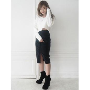 リゼクシー RESEXXY ベーシックコーデュロイスカート (ブラック)