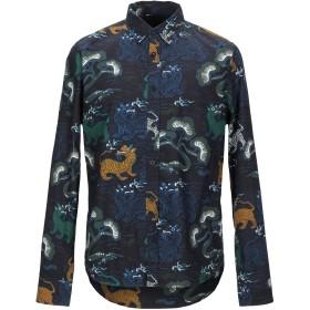 《期間限定セール開催中!》DESIGUAL メンズ シャツ ダークブルー S コットン 100%