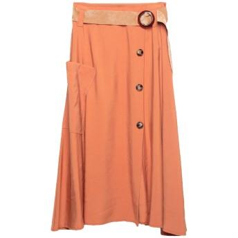 《9/20まで! 限定セール開催中》PAOLO CASALINI レディース 7分丈スカート オレンジ S レーヨン 89% / ポリエステル 11%