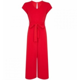 メーラ Mela レディース オールインワン ワンピース・ドレス Capped Sleeve Culottes Jumpsuit Red