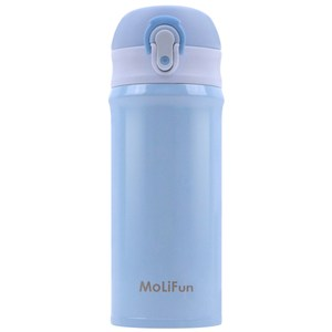MoliFun魔力坊 316輕量真空彈蓋杯保冰保溫杯380ml-晴空藍晴空藍