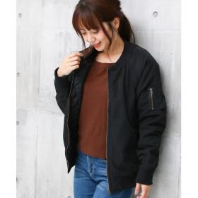 ソーシャルガール Social GIRL 中綿キルトオーバーサイズラグランMA-1 (ブラック)