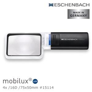 Eschenbach 4x/16D 德國製LED手持型非球面放大鏡4x/16D/75x50