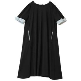 [マルイ] こだわりの袖レースリボンAライン半袖ワンピース/ハッピーマリリン(大きいサイズ)(AHAPPYMARILYN)