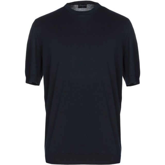 《セール開催中》DRUMOHR メンズ プルオーバー ダークブルー 50 コットン 100%