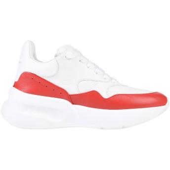 《セール開催中》ALEXANDER MCQUEEN レディース スニーカー&テニスシューズ(ローカット) ホワイト 35 革 / 紡績繊維