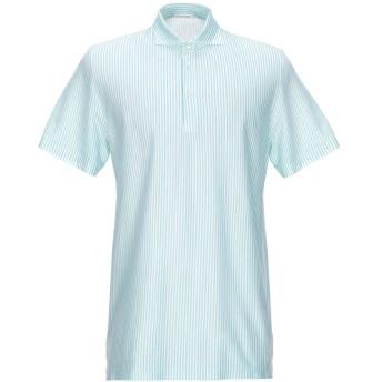 《9/20まで! 限定セール開催中》GRAN SASSO メンズ ポロシャツ エメラルドグリーン 52 コットン 100%