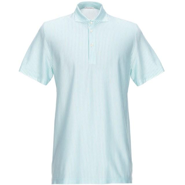 《期間限定セール開催中!》GRAN SASSO メンズ ポロシャツ エメラルドグリーン 52 コットン 100%
