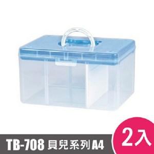 樹德SHUTER FUN貝兒手提箱(A4)TB-708 2入藍