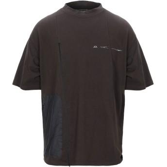 《9/20まで! 限定セール開催中》OAKLEY メンズ T シャツ ダークブラウン S コットン 100%