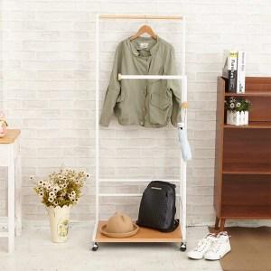 【H&R安室家】日系時尚雙桿衣架白色