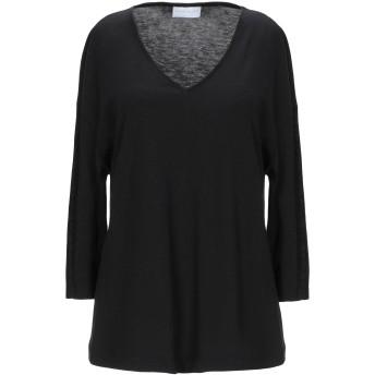 《セール開催中》DIANA GALLESI レディース T シャツ ブラック 40 テンセル 67% / コットン 33%