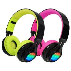 AB-005 全罩式LED炫光無線藍牙耳機麥克風(TF插卡/AUX)黑綠