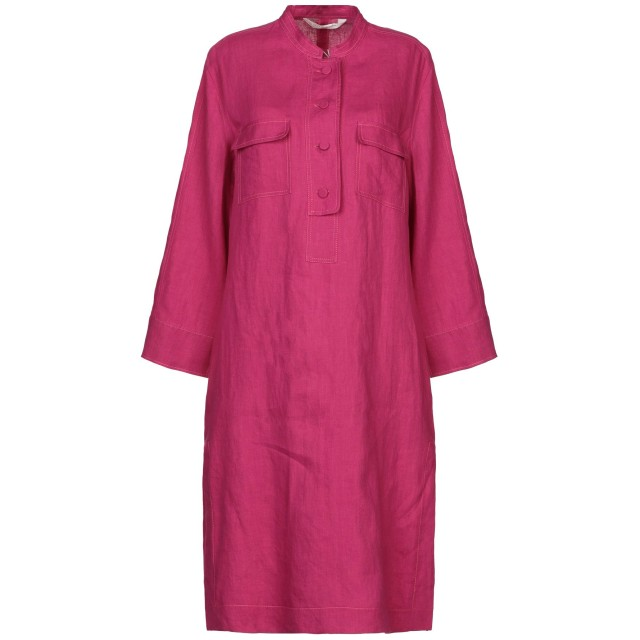 《セール開催中》GUGLIELMINOTTI レディース ミニワンピース&ドレス フューシャ 38 麻 100%