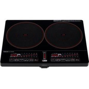 納期約1~2週間 山善 ヤマゼン YEK-1456G 2口IH調理器 ブラック YEK1456GB