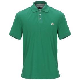 《期間限定セール開催中!》MOOSE KNUCKLES メンズ ポロシャツ グリーン S コットン 100%