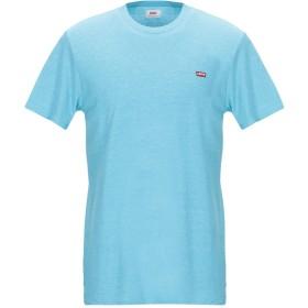 《9/20まで! 限定セール開催中》LEVI'S RED TAB メンズ T シャツ アジュールブルー M コットン 61% / ポリエステル 30% / レーヨン 9%