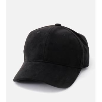 SUEDE TOUCH LOGO CAP/スエードタッチロゴキャップ BLK
