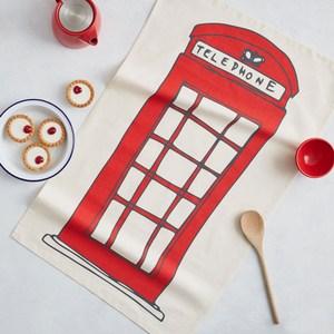 【英國蛋】有機棉碗盤擦布 英式電話亭紅色