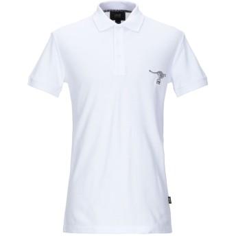 《9/20まで! 限定セール開催中》CAVALLI CLASS メンズ ポロシャツ ホワイト S コットン 100%