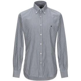 《期間限定 セール開催中》BROOKSFIELD メンズ シャツ グレー 39 コットン 100%