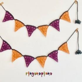 手編みのハロウィンガーランド