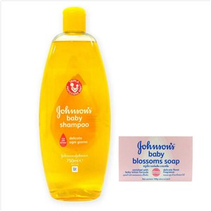 義大利 Johnsons 嬰兒洗髮精(750ml)*3+潤膚皂*12