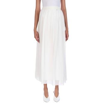《セール開催中》FRACOMINA レディース ロングスカート ホワイト 38 シルク 100%