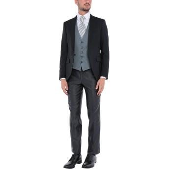 《セール開催中》GAI MATTIOLO メンズ スーツ ブラック 48 バージンウール 98% / ポリウレタン 2%