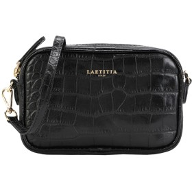 《セール開催中》LAETITIA レディース メッセンジャーバッグ ブラック 牛革(カーフ) 100% Petite Lavinia