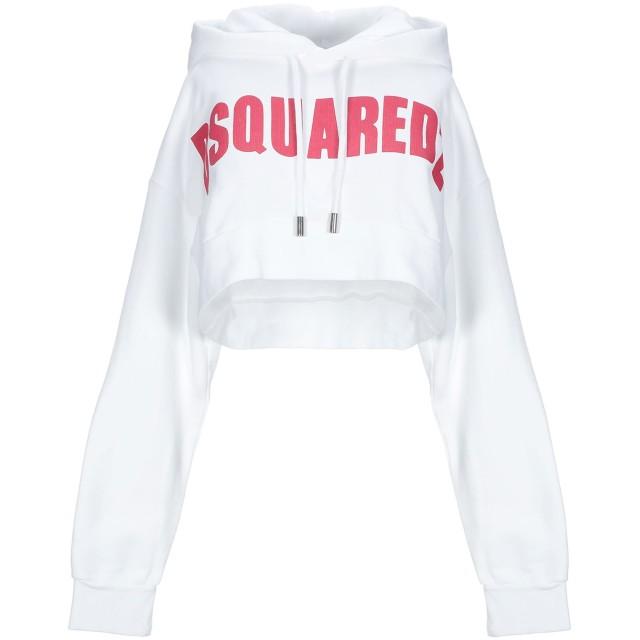 《期間限定セール開催中!》DSQUARED2 レディース スウェットシャツ ホワイト XS コットン 100% / ポリウレタン