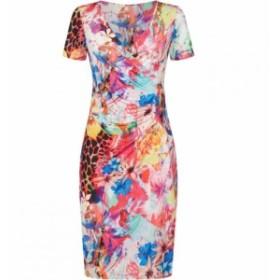ジュームズ レイクランド James Lakeland レディース ワンピース ワンピース・ドレス Floral Ruched Front Dress Multi-Coloured